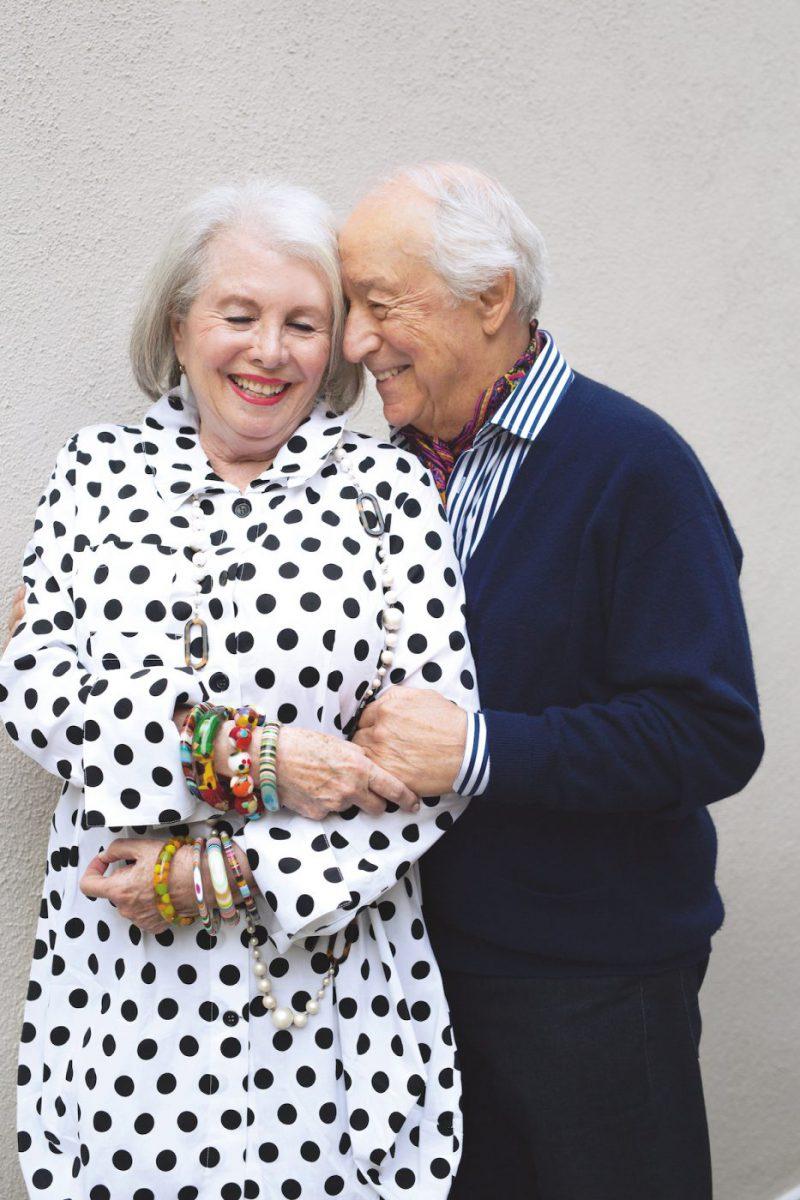 Das Liebespaar Bob und Sandra im Bildband von Liebe kennt kein Alter