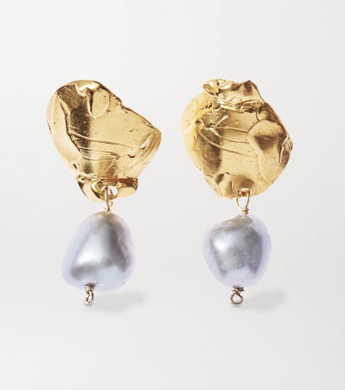 Alighieri  Solitary Tear at Dusk vergoldete Ohrringe mit Perlen 308,52 € von Alighieri üner Net a Porter