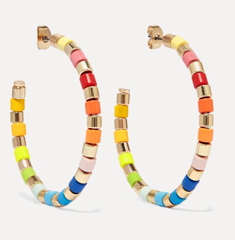 Roxanne Assoulin  U-Tube goldfarbene Creolen mit Emaille   108,16 €