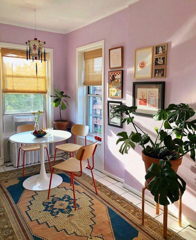 Pastellfarbene Wände